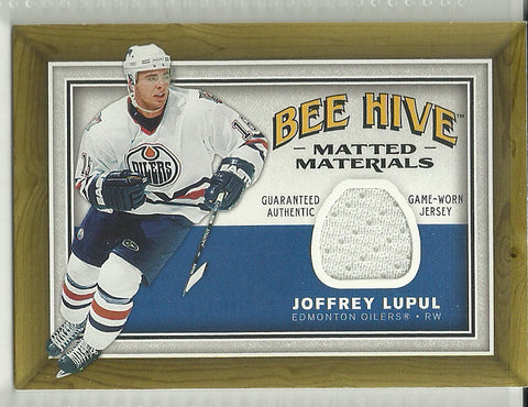 Joffrey Lupul 2006-07 Upper Deck Bee Hive - Matted Materials #MM-JL Game Used Jersey Card