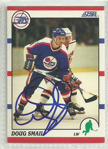Doug Smail Autograph 1990-91 Score Card - First Row Collectibles