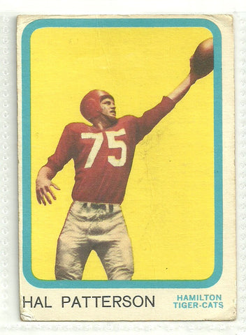 Hal Patterson 1963 Topps CFL #31