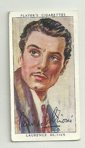 Laurence Olivier 1938 Player's Film Stars Series 3 Tobacco Card #34 - First Row Collectibles