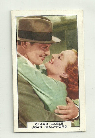 Clark Gable & Joan Crawford 1935 Gallaher Film Partners Tobacco #11