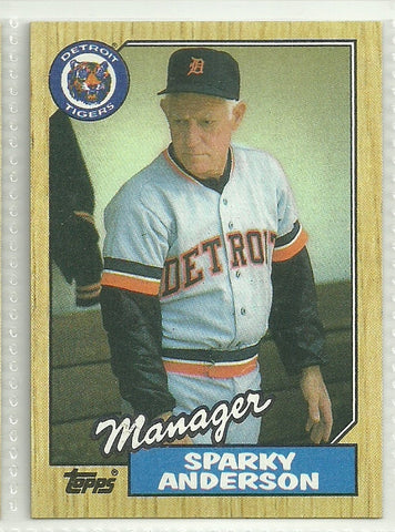 Sparky Anderson 1987 Topps #218