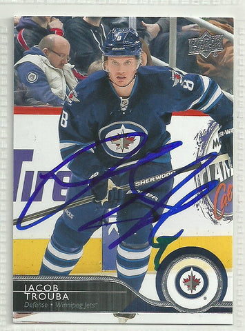Jacob Trouba Autograph 2014-15 Upper Deck Hockey Card