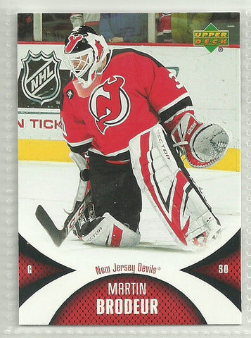 Martin Brodeur 2006-07 Upper Deck Mini Jersey Collection #60