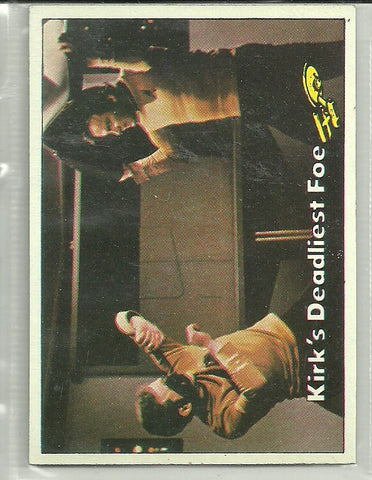 Kirk's Deadliest Foe 1976 Topps Star Trek #84