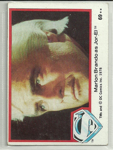 Marlon Brando 1978 Topps Superman The Movie #69