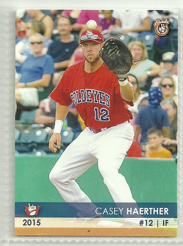Casey Haerther 2015 Winnipeg Goldeyes Team Issued Card