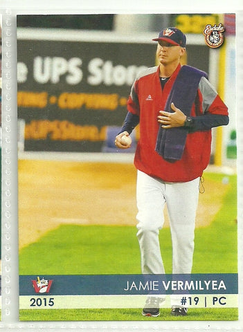 Jamie Vermilyea 2015 Winnipeg Goldeyes Team Issued Card