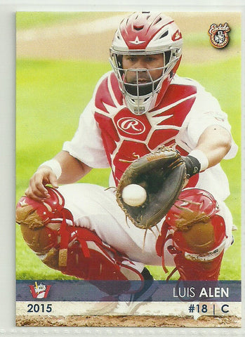 Luis Alen 2015 Winnipeg Goldeyes Team Issued Card