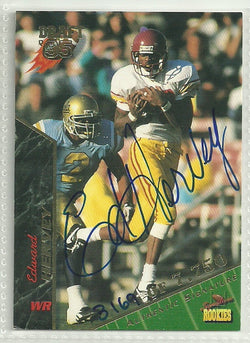 Ed Hervey 1995 Signature Rookies Authentic Autograph Card #35