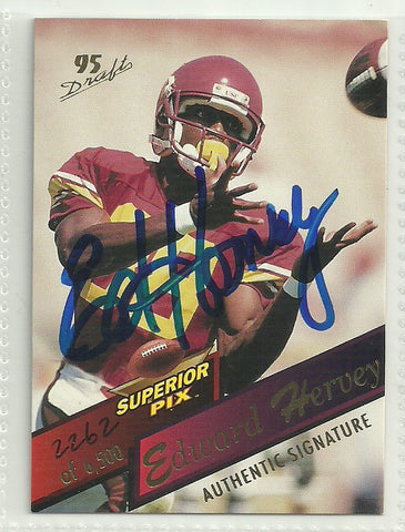 Ed Hervey 1995 Superior Pix Authentic Autograph Card #52