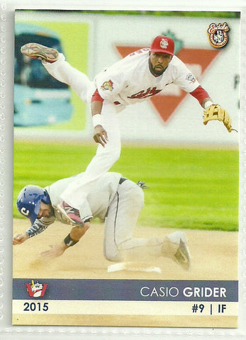 Casio Grider 2015 Winnipeg Goldeyes Team Issued Card