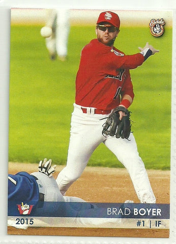 Brad Boyer 2015 Winnipeg Goldeyes Team Issued Card