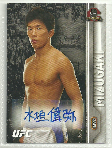 Takeya Mizugaki 2015 Topps UFC Champions - Fighter Autographs #FA-TM