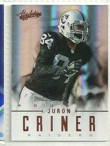 Juron Criner 2012 Absolute #150 /399 - First Row Collectibles