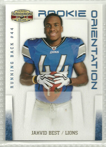 Jahvid Best 2010 Panini Gridiron Gear Rookie Orientation Gold #21 /100