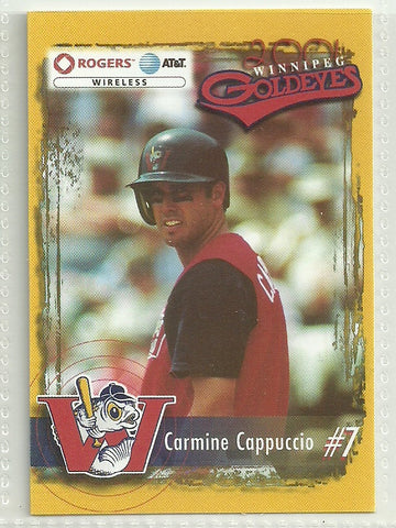 Carmine Cappuccio 2001 Winnipeg Goldeyes Team Issued Card