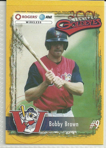 Bobby Brown 2001 Winnipeg Goldeyes Team Issued Card