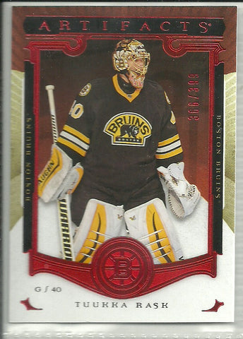 Tuukka Rask 2015-16 Upper Deck Artifacts Ruby #121 /399