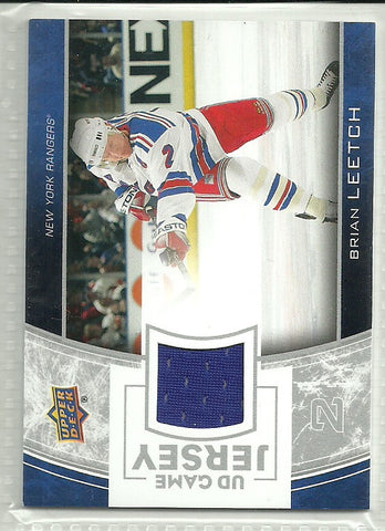 Brian Leetch 2013-14 Upper Deck Series One UD Game Jersey #GJ-BL - First Row Collectibles