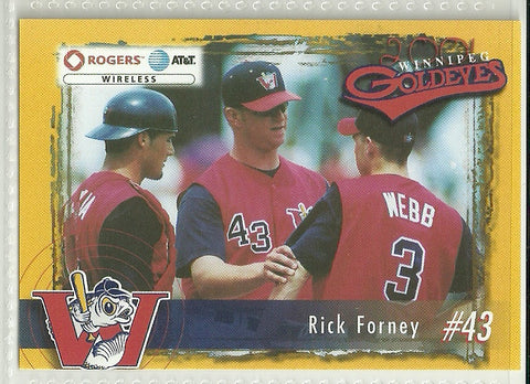 Rick Forney 2001 Winnipeg Goldeyes Team Issued Card