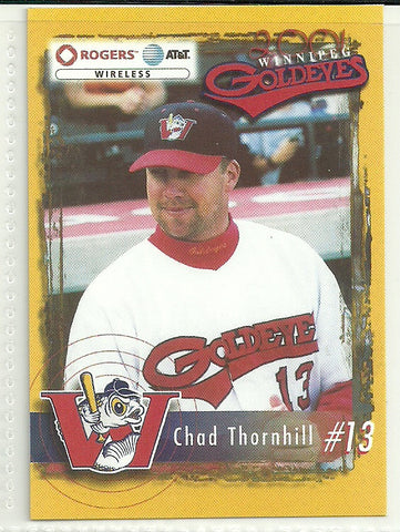 Chad Thornhill 2001 Winnipeg Goldeyes Team Issued Card