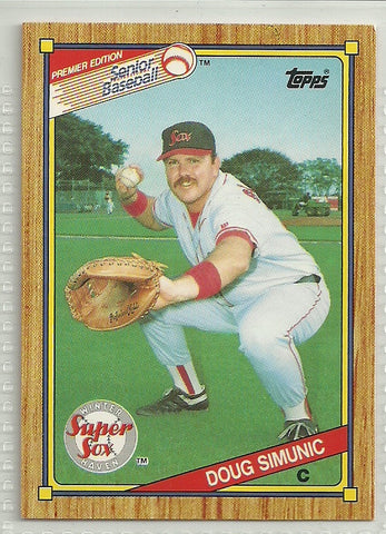 Doug Simunic 1989-90 Topps Senior Professional Baseball Association - Box Set #84