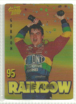 Jeff Gordon 1995 Action Packed Winston Cup Country - Team Rainbow #1 Promo