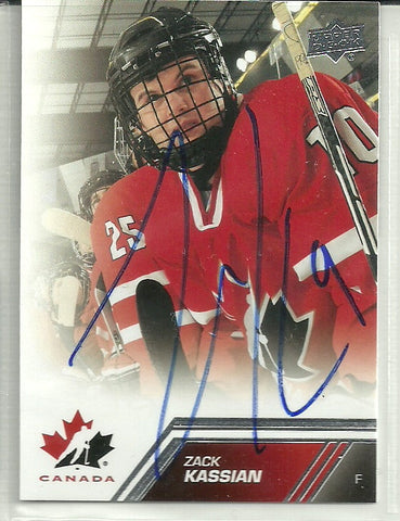 Zack Kassian Autograph 2013 Team Canada Upper Deck Card
