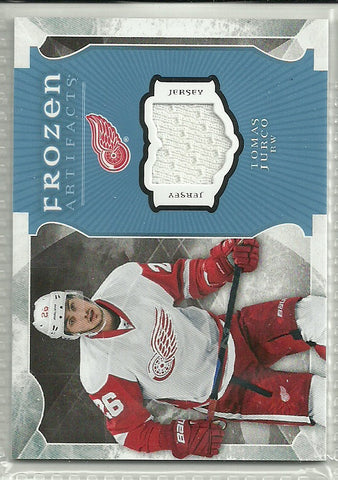 Tomas Jurco 2015-16 Upper Deck Artifacts Frozen Artifacts Blue #FA-TJ