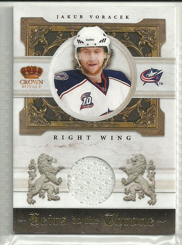 Jakub Voracek 2010-11 Panini Crown Royale Heirs to the Throne Material #JV /250
