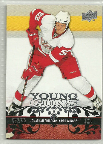 Jonathan Ericsson 2008-09 Upper Deck #212 Young Guns Rookie Card - First Row Collectibles