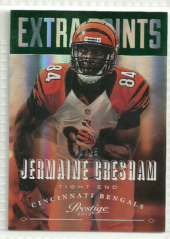 Jermaine Gresham 2013 Prestige Extra Points Green #43 /25