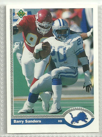 Barry Sanders 1991 Upper Deck Promos #500