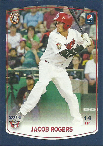 Jacob Rogers 2016 Winnipeg Goldeyes Team Issued Card