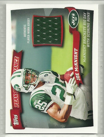 Joe McKnight 2010 Topps Peak Performance Relics #PPR-JM - First Row Collectibles