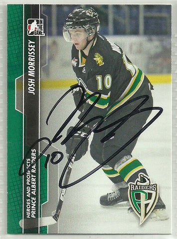 Josh Morrissey Autograph 2013-14 ITG Heroes and Prospects Card