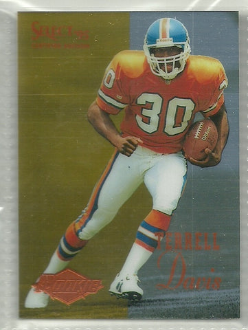 Terrell Davis 1995 Select Certified #126 Rookie Card