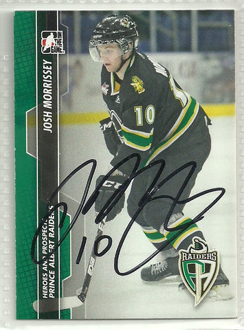 Josh Morrissey Autograph 2013-14 ITG Heroes and Prospects Card - First Row Collectibles