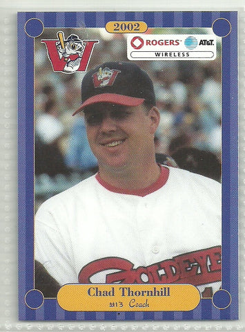 Chad Thornhill 2002 Winnipeg Goldeyes Team Issued Card