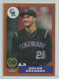 Nolan Arenado 2017 Topps Chrome - 1987 Design - Orange Refractor #87T-15 /25