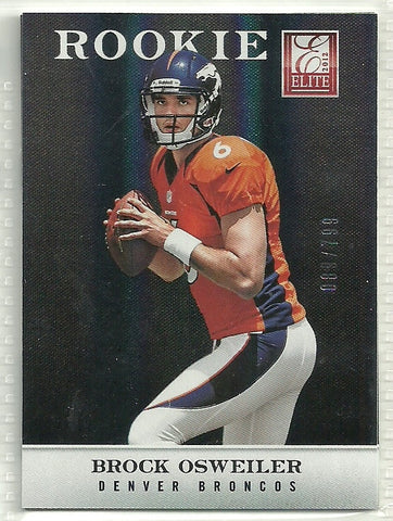 Brock Osweiler 2012 Elite #134 Rookie Card /799