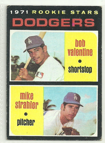 Bobby Valentine, Mike Strahler 1971 Topps #188 Rookie Card