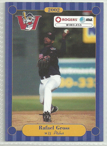 Rafael Gross 2002 Winnipeg Goldeyes Team Issued Card