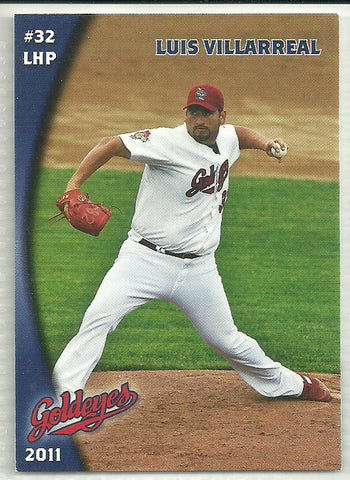 Luis Villarreal 2011 Winnipeg Goldeyes Team Issued Card