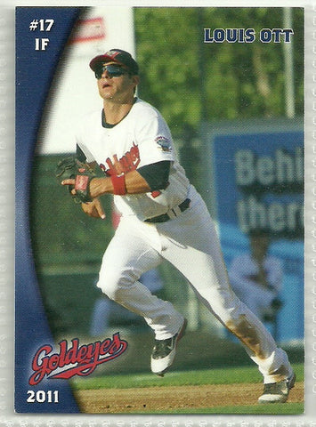 Louis Ott 2011 Winnipeg Goldeyes Team Issued Card
