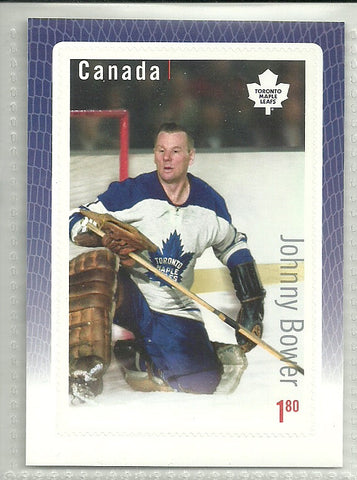 Johnny Bower 2015-16 Canada Post Stamp Card
