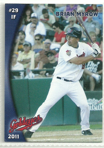 Brian Myrow 2011 Winnipeg Goldeyes Team Issued Card