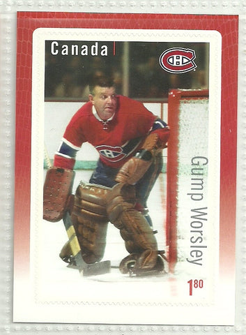 Gump Worsley 2015-16 Canada Post Stamp Card