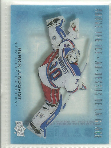 Henrik Lundqvist 2015-16 Upper Deck Tim Hortons Collector's Series Above the Ice #AI-HL